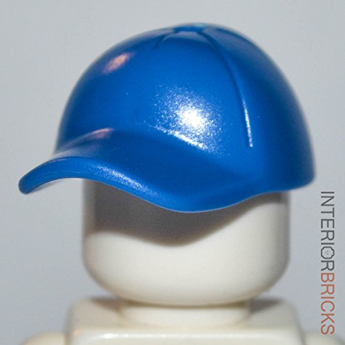 LEGO Minifigure Hat: Blue Baseball Cap with Hole In Top
