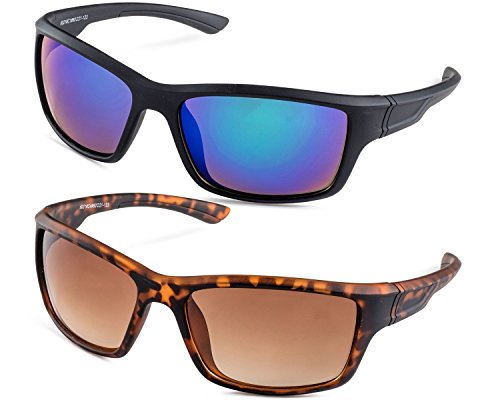 Black Frame/Green Flash Mirror Lens and Havana Frame/Brown Gradient Lens - Popular Womens Bans Most Ray