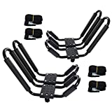 2 Pairs Kayak Rack J-Bar Car Roof Rack for Canoe