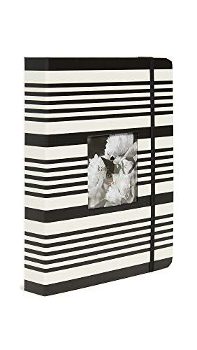13 Month Pocket Planner - Kate Spade New York Women's Black Stripe Large Full Year Agenda, Black Stripe, One Size