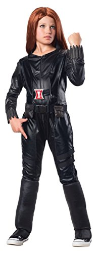 Child Black Widow Costume (Rubies Marvel Comics Collection: Captain America: The Winter Soldier Deluxe Black Widow Costume, Child Small)