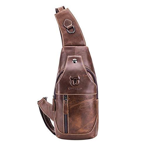 Marrón Paquetes Hombro Cintura Retro Claro Cofre De Hombre Bolsas Bull Fanny Bandolera Captain Xintiandi wvx67YRx