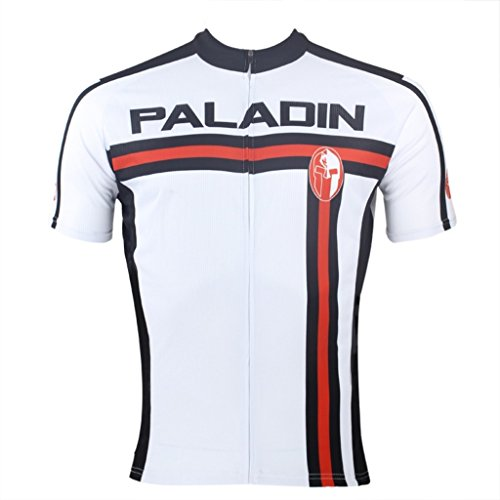 PaladinSport Men's Red and Black Stripes Style Short Sleeve Cycling Jersey Size XXXXXL