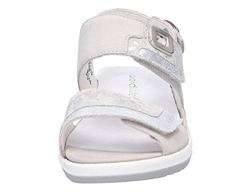 Waldläufer 013 225006307 Grigio Sandali Bianco Donna cement Cement Silber Silber 80r8aSq