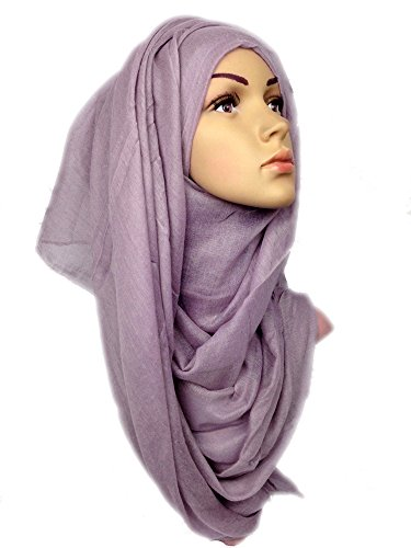 Plain Solid Viscose Maxi Large Hijab Scarf Shawl Pplmve