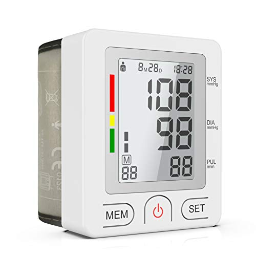 (BESTHING Blood Pressure Monitor, Automatic Wrist Blood Pressure Cuff Monitor, 90 Readings Memory Function & LCD Large Screen- FDA Approved)