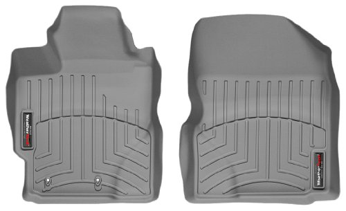 WeatherTech Custom Fit Front FloorLiner for Toyota Yaris, Grey with 1st Row Heating Vents (2010 Scion Xd Weathertech compare prices)