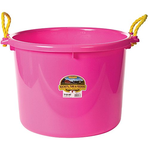 LITTLE GIANT PSB70HOTPINK PSB70 HOT Pink Utility Bucket, 70 Quart