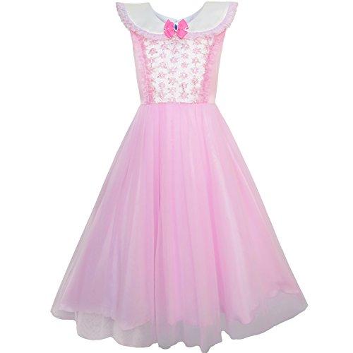KP75 Girls Dress Pink Princess Costume Cinderella Fancy Birthday Ball Size 12