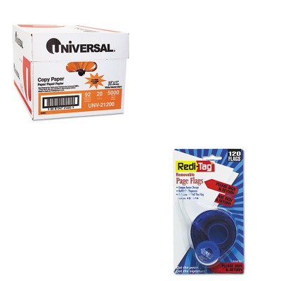KITRTG81344UNV21200 - Value Kit - Redi-tag Arrow Page Flags in Dispenser (RTG81344) and Universal Copy Paper (UNV21200)