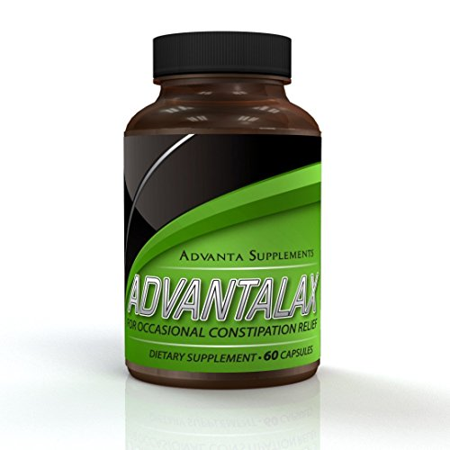 AdvantaLax Constipation Relief | Safe, Natural Laxative + Probiotics. Max. Colon Cleansing & Stool Softening. Aids Colon Health