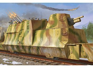 Trumpeter 1/35 WWII German Army Kanonen and Flakwagen Armored Anti-Aircraft Rail Car
