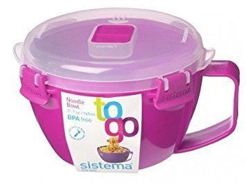 Sistema Noodle Bowl to Go 31.7 Pink 9 oz/940 ml (Bowl Go Noodle To)