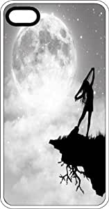 Dancing Girl with Arms Stretched In Moon Light White Plastic Case for Apple iPhone 6