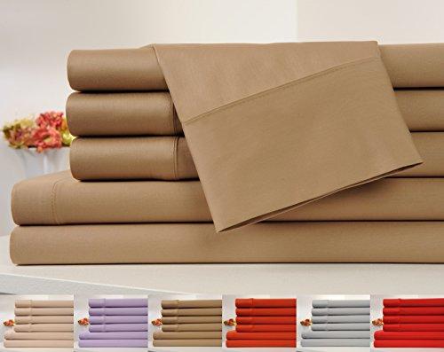 Mocha Cotton Organic (OrganicPro 100% Organic Cotton Bed Sheet Set 4 Piece Cotton Sheets Set (Full, Mocha))