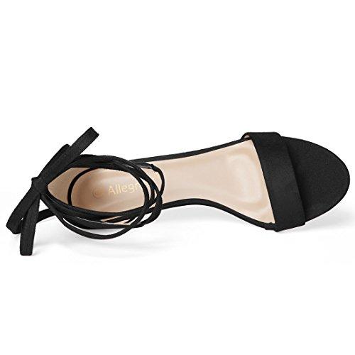 K con Heel negras cordones Sandalias Allegra Kitten 4qwy5SOz