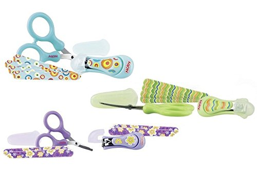 NUBY NAIL CARE GROOMING SET 0M- RANDOM COLOURS