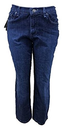 LEE Platinum Label Relaxed Fit Straight Leg Jeans, Authentic Blue Wash, 4 Long ()