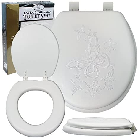 Tremendous Soft Padded Toilet Seat Embroidered Styles May Vary Lamtechconsult Wood Chair Design Ideas Lamtechconsultcom