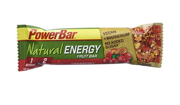 Amazon.com: Powerbar Cranberry Natural Energy Fruit and Nut - 40 g Bar x 24: Health & Personal Care