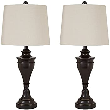 Ashley furniture signature design darlita table lamps set of 2 contemporary bronze finish