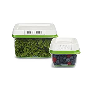 Rubbermaid FreshWorks Produce Saver Food Storage Containers, Set of 2