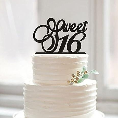Amazon sweet 16 birthday cake topper personalized 16th cake sweet 16 birthday cake topper personalized 16th cake topper sweet 16 cake topper cake junglespirit Choice Image