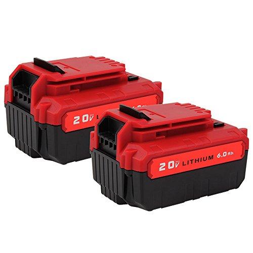 2 Pack MASIONE 20v Max 6000mAh PCC685L Battery for Porter Cable PCC685LP PCC680L PCC682L Cordless Power Tools High Capacity Batteries