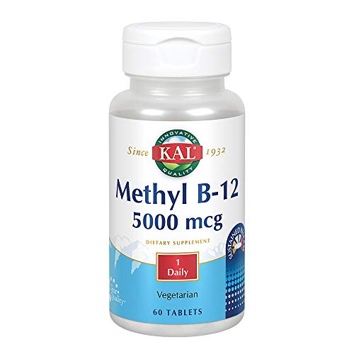 (KAL B-12 Timed Release Tablets, 5000 mcg, 60 Count )