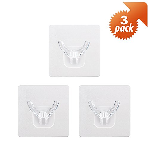 good ilikable Bathroom Razor Holder and Removable Adhesive Clear Wall Hooks for Home Kitchen Bath Accessories – 6 Mix Pack