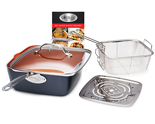 Gotham Steel Cookware + Bakeware Set with Nonstick Durable Ceramic Copper Coating – Includes Skillets, Stock Pots, Deep… 3
