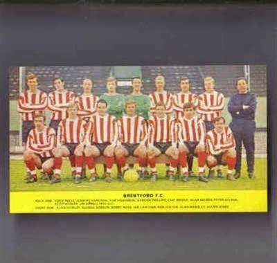 Brentford 1967-8 old collectable memorabilia retro football team picture poster