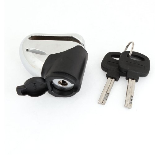 uxcell Silver Tone Black Safety Security Motorcycle Disc Brake Lock Lockset