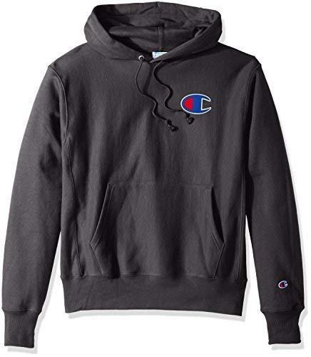 Champion LIFE Men's Reverse Weave Pullover Hoodie, Kelly Green/Left Chest C Logo, Medium