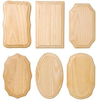 amazon com creative hobbies unfinished wood plaques 6 5 inch x