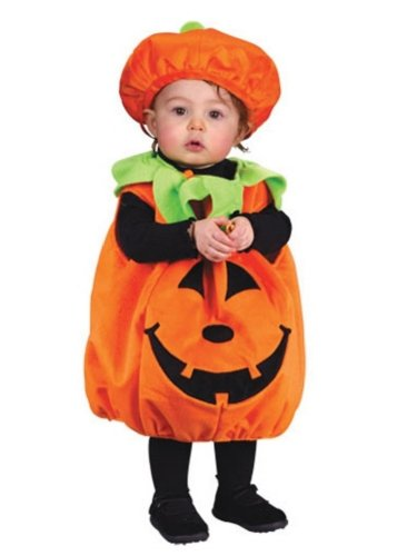 Fun World Girls' Toddler Pumpkin Cutie Pie, Multi Colored, OneSize