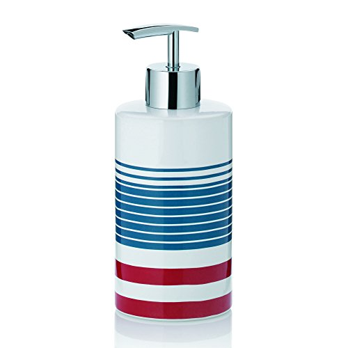 Kela Liquid Soap Dispenser Atlantic Collection, Red/White/Blue