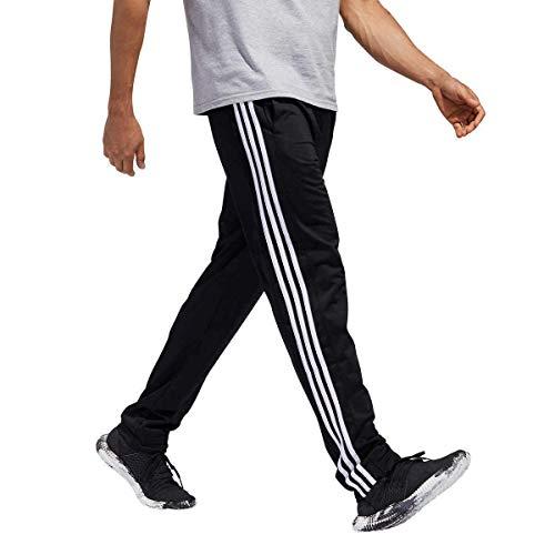 adidas Men Essential Track Pants Black Size M, L, XL (Black/White, Medium) (La Suit Outlet 3 Mens Suits $100)
