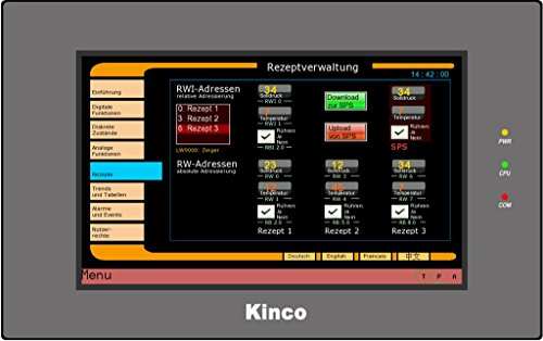 Kinco Automation MT4414TE HMI Touch Screen, 7