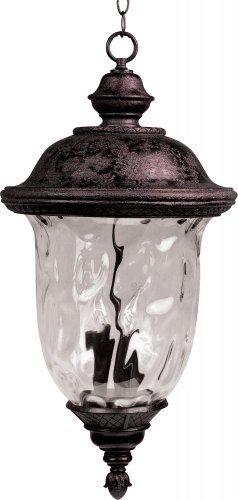 Maxim Lighting 40427WGOB Carriage House VX 3-Light Outdoor 24.5-Inch Hanging Lantern, Oriental Bronze Finish by Maxim Lighting