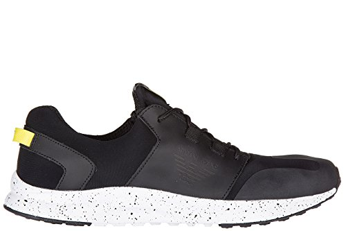 Armani Jeans chaussures baskets sneakers homme noir