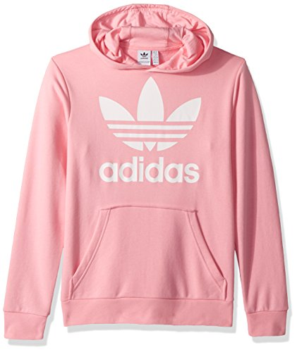 adidas Originals Boys' Little Trefoil Hoodie, Light Pink/White, XS