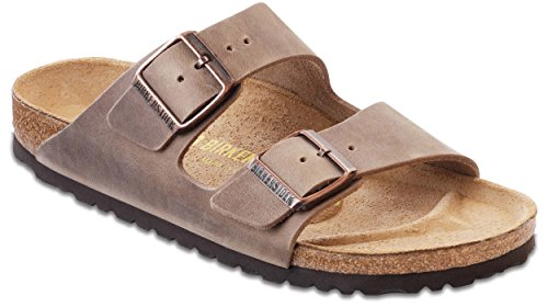 Birkenstock Arizona Oiled Leather Sandals Tabacco Brown Size 37