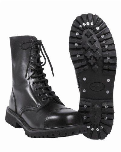 Mil-Tec  Invader 10-Loch, Chaussures de sécurité pour homme - noir - Schwarz, 38