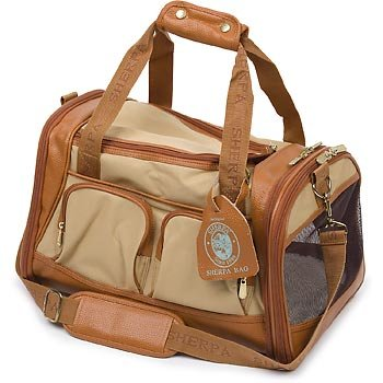 Sherpa 66237 Amelia Pet Carrier, Medium, Tan with Sand Trim, My Pet Supplies