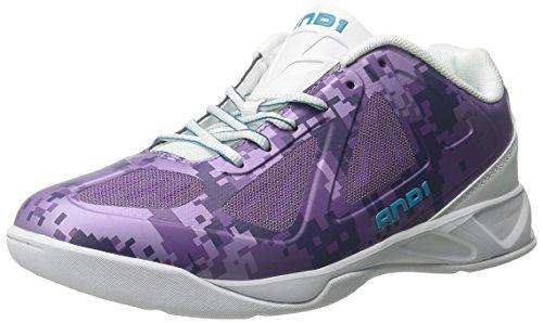 UND 1 Herren Xcelerate Low Basketball Schuh Fallschirm / Weiß / Capri-Brise