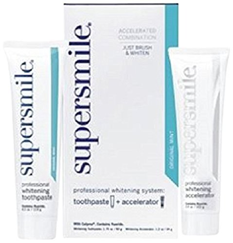 (Supersmile Professional Whitening System Toothpaste and Whitening Accelerator, Mint, Small)
