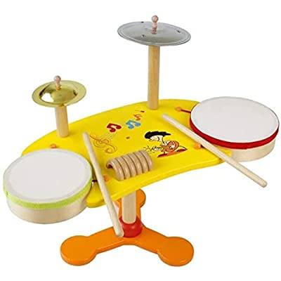 Mopoq Wooden Toys, Infant, Baby, Early Childhood, Vocal, Beat, Vent, Drum Children's Educational Toys: Home & Kitchen