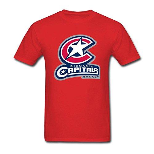 Libling Men's Hockey Star Captical Short Sleeve T-Shirt