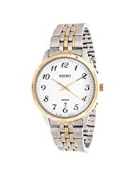 Seiko Men's SUR042 Two-Tone 100m Date Stainless Steel Watch [Watch]